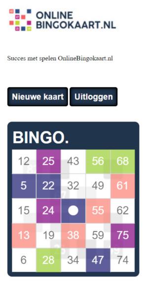 bingokaart met klikfunctie