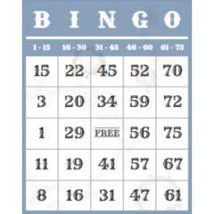 Oude bingokaart