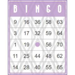 Paarse retro bingokaart