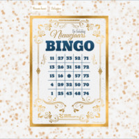 bingokaart van de gelukkig nieuwjaars bingo
