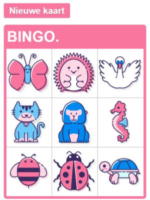 dierenbingo bingokaart