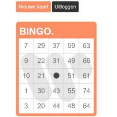 Warner Music Benelux bingokaart